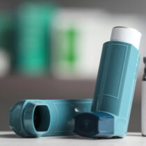 The blue asthma inhaler